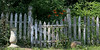 Rustic gate at Old Westbury Gardens