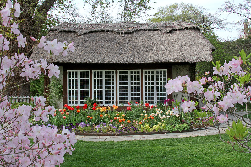 Thatched Cottage At Old Westbury Gardens.  This was the playhouse for their daughter,Peggy Phipps.