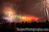 A rainbow of sparks dance across the 2nd Street Bridge during Thunder Over Louisville.