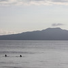 Swimmers, with Rangitoto in the distance, Takapuna Beach
