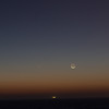 Comet Panstarrs and the New Moon