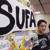 Danvers:<br /> Derek Bean, freshman, left, is a member and Heather Carnevale is the class advisor of Students United for Acceptance, SUFA, at Danvers High School. SUFA, will be a honored Monday during the Danvers Diversity Committee's annual dinner.<br /> Photo by Ken Yuszkus/Salem News, Wednesday, January 11, 2012.