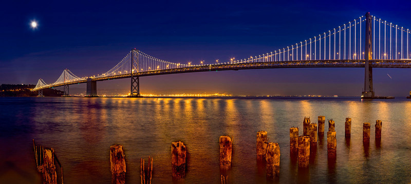 Bay Bridge at Dusk