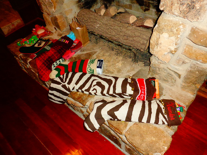 The stockings are slowly filling up...