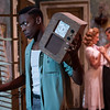 """L to R: Keith Machekanyanga as """"Stanley Kowalsky,"""" Juliet Robb as """"Blanche DuBois,"""" and Stephen Mabry as """"Harold Mitchell"""""""