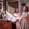 """L to R: Keith Machekanyanga as """"Stanley Kowalsky,"""" Juliet Robb as """"Blanche DuBois,"""" and Alyse Ullery as """"Stella Kowalsky"""""""