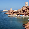 Entrance to the harbour and lagoon in Sur, eastern Oman