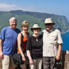 Bob, Susan, Carolyn and Chuck at Waipio Valley Overlook