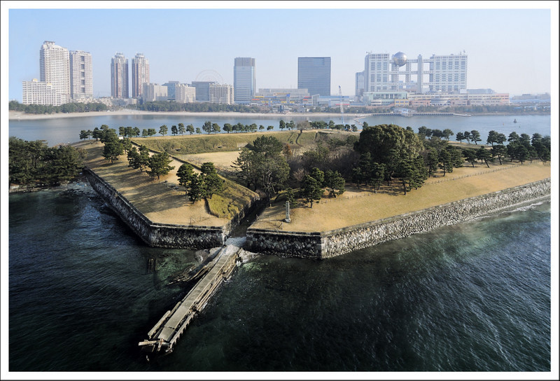 "The Odaiba fort, built to protect the bay from ""Black Ships"""