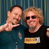 June 7, 2013, Carlsbad CA; Sunset Sessions Rock Day 2 - Sammy Hagar and photographer Tom Walko - t the Hilton Carlsbad Oceanfront Resort.