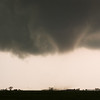 A truncated cone tornado destroys a barn just west of Cherokee, OK, on April 14, 2012.