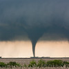 A backlit cone tornado as viewed from near Hosmer, SD, on May 22, 2010.