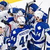 April 26th, 2015 - TORONTO CANADA - The Toronto Marlies battle the Grand Rapids Griffins in the second game of their first round playoff series for the AHL Calder Cup.  (Photo credit: Christian Bonin/TSGphoto.com)