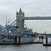Royal Navy Boat at Tower Bridge