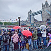 Royal Barge arrives at Tower Bridge for the Diamond Jubilee River Pageant