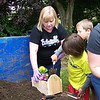 Adding the soil & flowers with Ms. Krissy