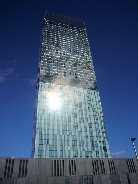 Manchester. Beetham Hilton Tower, 47 floors, 157m tall, 7th tallest building in UK.