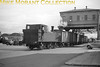 <center><u>Vintage Irish Republic Railways - Steam in Eire - 1954</u><br>Ex-GS&WR J11 0-6-0T no. 220 on the street at Clontarf St. (Cork) on 11/9/54.<center>