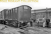 An interesting and unusual picture opf a mishap. This s a GWR 10T enclosed wagon with stock no. 57854 and no brake hose evident.<br> It was photographed circa 1937 but I have no idea where this was taken or how to describe the wagon.<br> [<i>Mike Morant collection</i>]