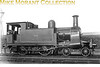 Former North London Railway 4-4-0T in LNWR guise as no. 2821 photographed at Devons Road shed on 5/4/24.<br> [<i>Mike Morant collection</i>]