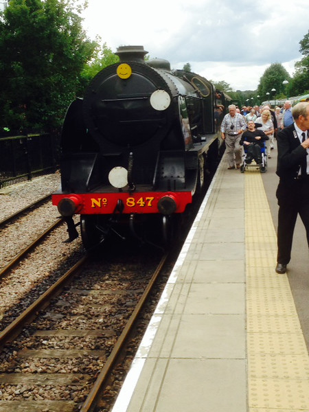 S15 (30)847 after arriving into East Grinstead on 20/08/14.
