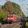145 058 leads the acetic acid empties 48572 (Burghausen Wackerwerk - Antwerpen/B) southbound through Kohlscheid.