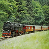 HSB(DR) No. 99.7242 2-10-2T amongst the trees in the Harz National Park