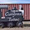 I doubt this Cumbres & Toltec 0-6-0 will ever be hauling anything on the rails.......  Antonito, New Mexico  27 May 2013