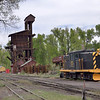 Number 15 is a former Hawaii based US Navy 47 ton shunter built in 1943. Seen here in the yard at Chama, New Mexico  27 May 2013