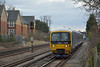 Turbo 165104 leaves Horley as 1V51 14.03 service from Gatwick Airport to Reading<br /> <br /> 18 February 2015