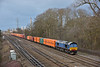 Plain blue 66414 heads east at Didcot with 4L31  Bristol  to Tilbury ' boozeliner'<br /> <br /> 29 January 2015