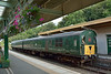 Contrasting greenery as  former 3H DEMU 1132  is stabled at Okehampton<br /> <br /> 15 August  2014