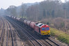 60059 'Swinden Dalesman' gets a run on the Down Main past Lower Basildon heading 6B33 Theale Murco to Robeston Sidings tanks<br /> <br /> 12 March 2014