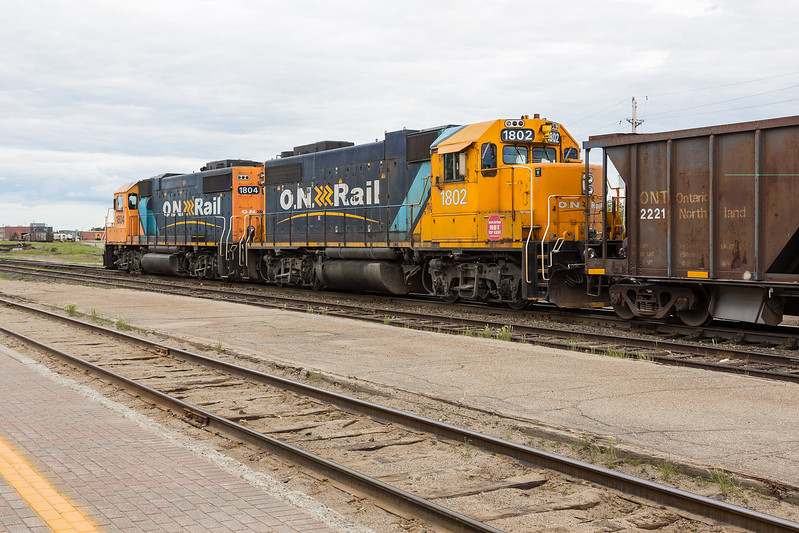 Ballast train at Cochrane.