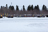 Flatcar or chain car 100501 in Moosonee.