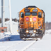 Special Saturday southbound only train operated by Ontario Northland Railway from Moosonee to Cochrane for March school break. Power consisted of GP38-2 1806 and 1808.