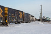 Polar Bear Express behind GP38-2 1804 and GP40-2 2200 arriving in Moosonee.