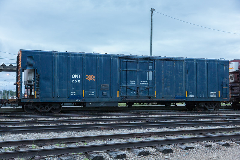Boxcar 250 at Moosonee. Temperature controlled.