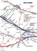 Enlargement of part of the map showing some of the lines covered by this route-learning run, which hopefully will make things a little clearer... Map drawn and kindly given permission to reproduce here by Mike Walker, many thanks!