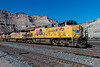 A set of Union Pacific power waits the call to duty in the yard at Helper, Utah