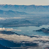 Lake Wanaka from Fog Peak. Wanaka is at centre image