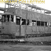<b>London trams</b><br> LT Feltham tramcars being demolished at the famous Penhall Road scrapyard in Charlton.<br> <i>[Mike Morant collection]</i>