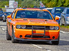Dodge Challenger at the Gumball 3000 Rally near Prestwick - 8 June 2014