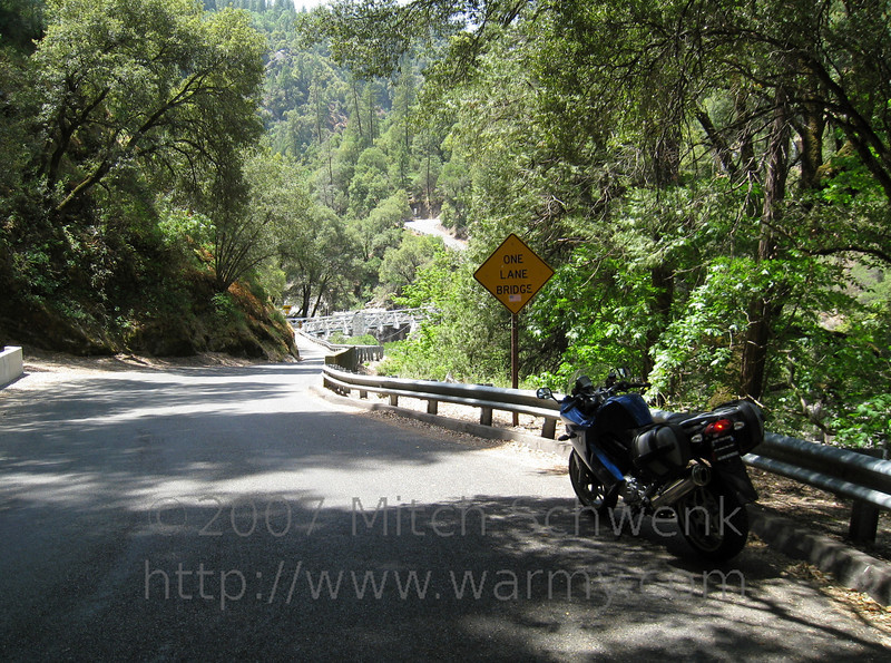 Really narrow roads ahead.  Riding around mosquito road, north of Placerville, CA.