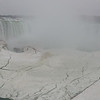 Fog and ice at the Horseshoe Falls