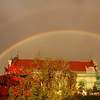 Double Rainbow over St. Teresa Church - Vilnius, Lithuania
