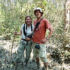 Audrey and Dan Trekking Through Mangrove Forests - Sundarban, Bangladesh