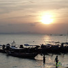 Sun Sets Over Fishing Boats on Koh Samui - Thailand