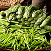 Okra and Bitter Gourd at Srimongal Market - Bangladesh