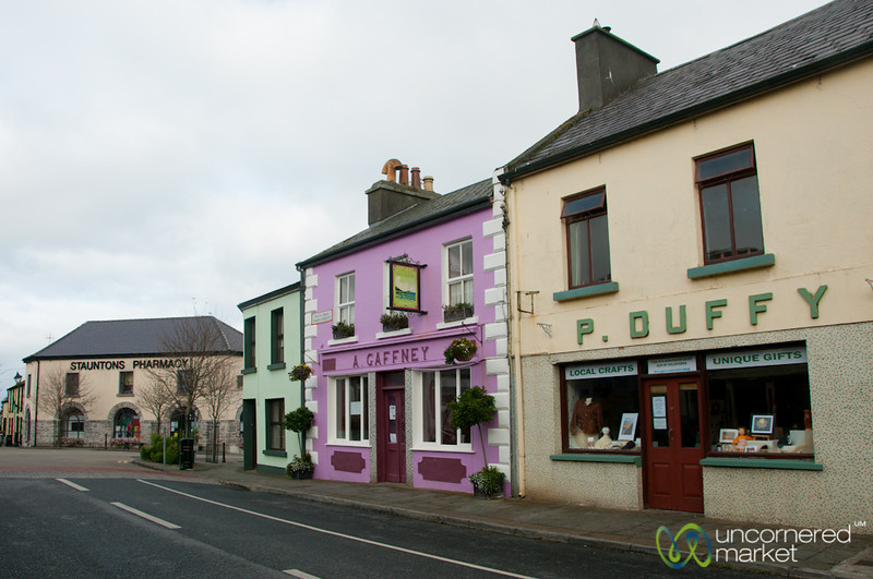 Louisburgh Village Street - County Mayo, Ireland
